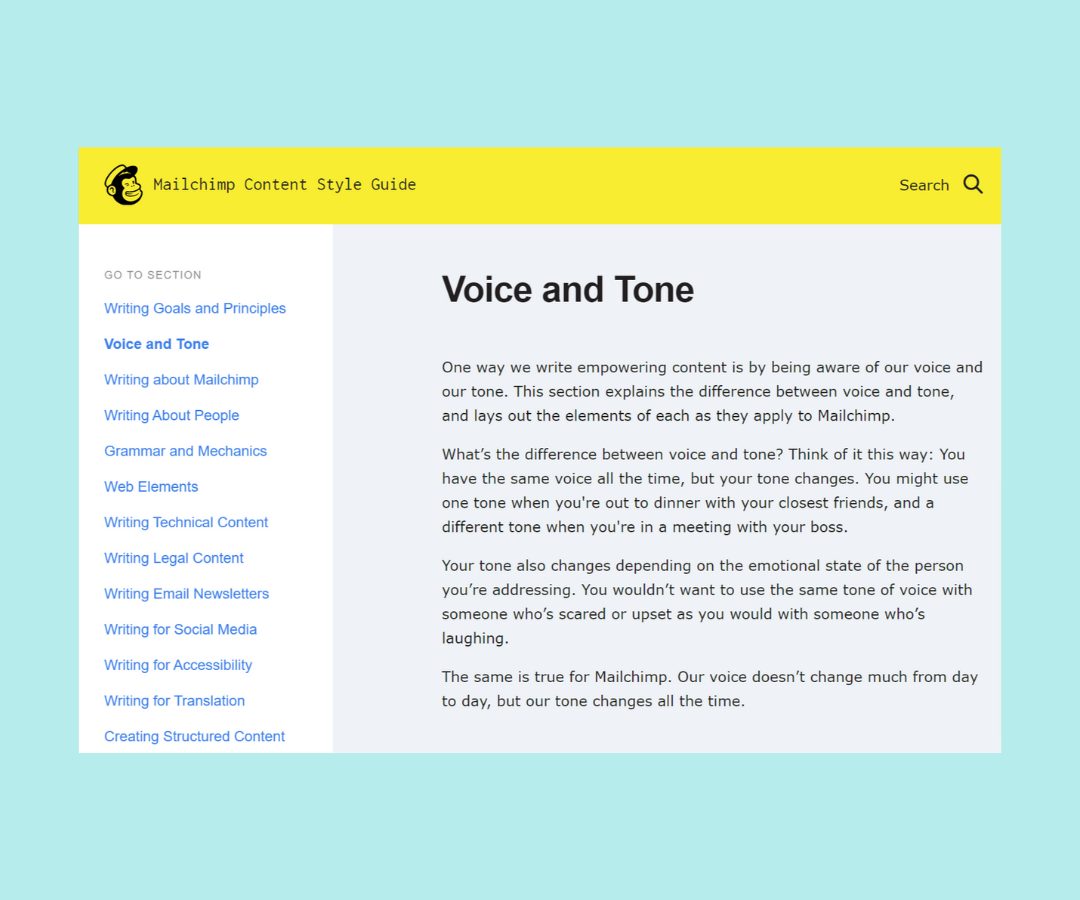 customer service voice example